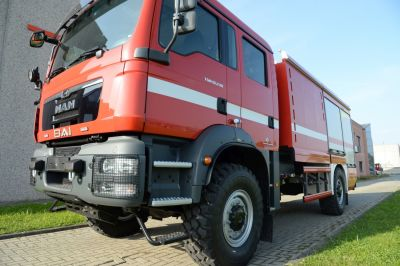New rural fire fighting vehicle BAI VSAC 6200 S mounted on MAN 4x4 TGM 18.240 BB chassis, Euro 3. Ready for delivery