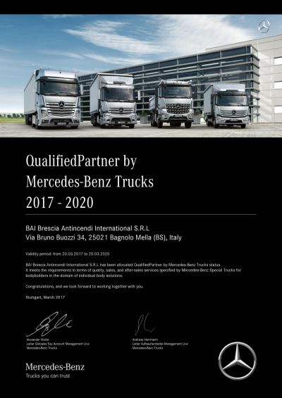 BAI allocated QualifiedPartner status by Mercedes-Benz Trucks