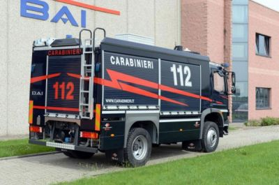 "May 2013. NEW Heliport Fire Fighting Vehicle for Italian ""Carabinieri"" Military Police in Piemonte e Valle d'Aosta"